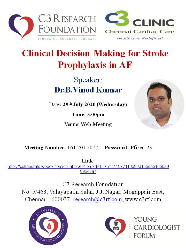 Clinical Decision Making for Stroke Prophylaxis in AF