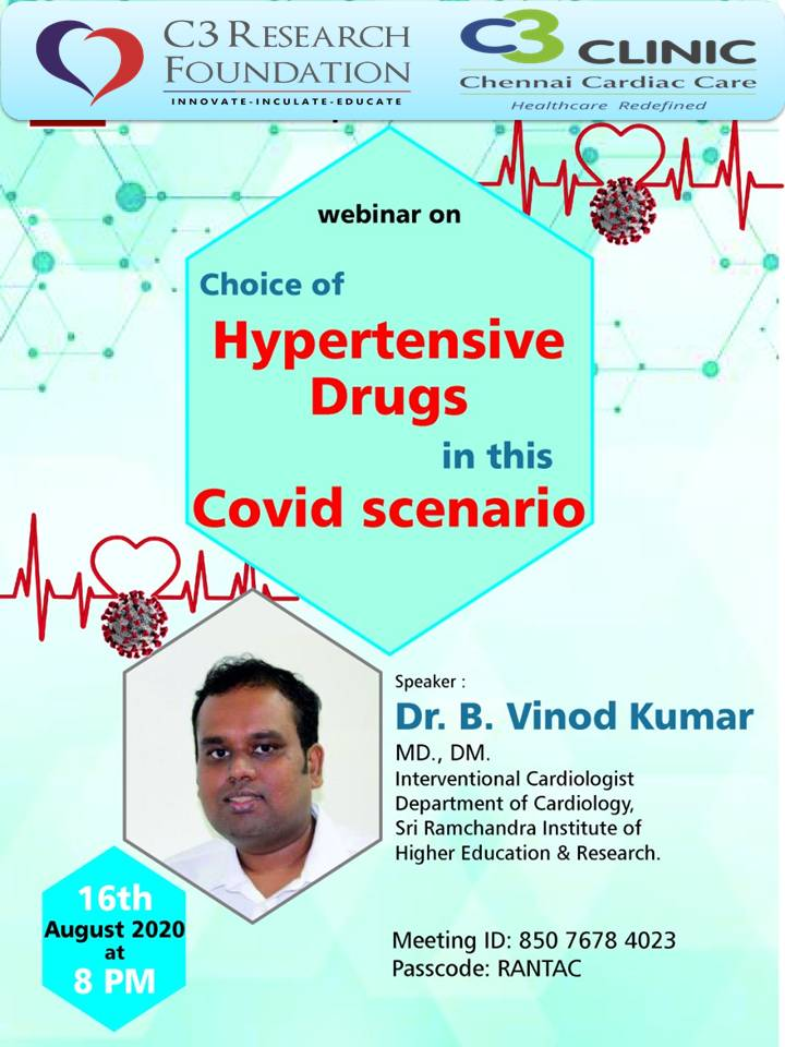 Choice of Hypertensive drugs in this COVID scenario